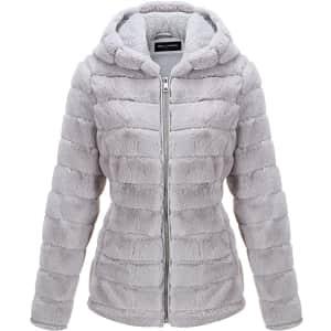 Bellivera Women's Plush Hooded Jacket for $30