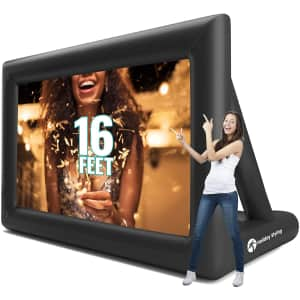 """Holiday Styling 200"""" Inflatable Projector Screen for $175"""