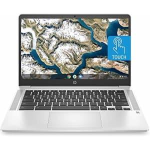 HP Chromebook 14-inch HD Touchscreen Laptop, Intel Celeron N4000, 4 GB RAM, 32 GB eMMC, Chrome for $211