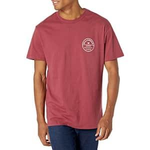 Billabong Men's Classic Short Sleeve Premium Logo Graphic Tee T-Shirt, Burgundy Rotor Fill, Medium for $20
