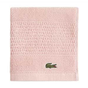 """Lacoste Legend 100% Supima Cotton Towel, 650 GSM, 13"""" W x 13"""" L Wash, Blossom Pink for $7"""