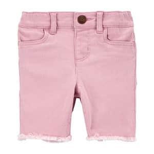 OshKosh B'Gosh Osh Kosh Girls' Cut Off Shorts, Rosewood, 2T for $19