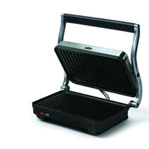 Salton Electric Panini Press Grill, 710 inch, Stainless Steel/Black for $44