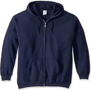 Gildan Men's Fleece Zip Hoodie for $9