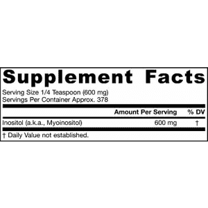 Jarrow Formulas Inositol Powder, Supports Liver Function, 600 mg, 8 oz for $23