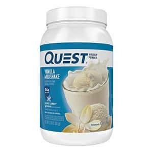 Quest Nutrition Vanilla Milkshake Protein Powder, High Protein, Low Carb, Gluten Free, Soy Free, 48 for $50