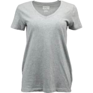 Converse Women's W2 V-Neck T-Shirt for $9