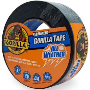 Gorilla All Weather Duct Tape 25-Yard Roll for $10