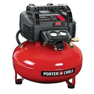 PORTER-CABLE Air Compressor, 6-Gallon, Pancake, Oil-Free (C2002-ECOM) for $147