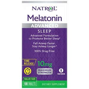 Natrol Melatonin Advanced Sleep Tablets with Vitamin B6, Helps You Fall Asleep Faster, Stay Asleep for $11
