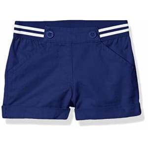 Nautica Girls' Solid Woven Short, Trans Deep Navy, 6 for $14