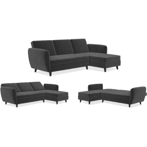 Novogratz Perry 2-Piece Convertible Sectional Sofa Bed w/ Storage for $516