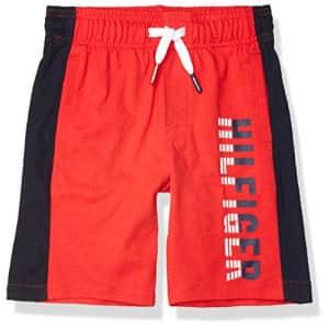 Tommy Hilfiger Kids Boys' Logo Drawstring Pull-On Short, High Risk red, 2T for $19