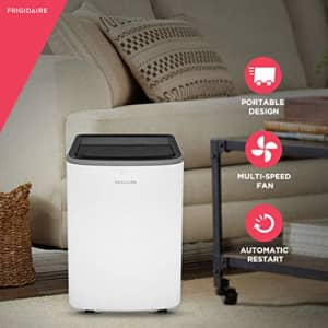Frigidaire FHPC102AB1 Portable Air Conditioner with Remote Control for Rooms, White for $580
