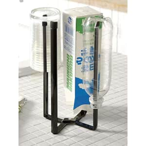 Yamazaki Home Tower Kitchen Eco Stand for Drying Bags, Bottles, and more for $16
