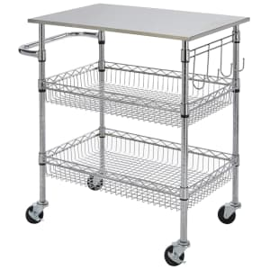 StyleWell Gatefield Large Kitchen Cart w/ Stainless Steel Top for $72...or less
