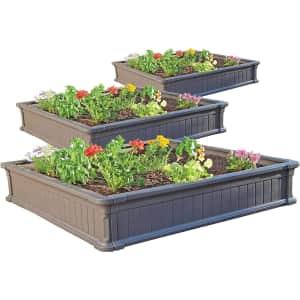 Lifetime 4x4-Foot Raised Garden Bed Kit 3-Pack for $289