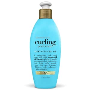 OGX Argan Oil of Morocco Curling Perfection 6-oz. Curl-Defining Cream for $6