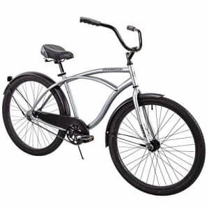 "Huffy 26"" Cranbrook Men's Beach Cruiser Comfort Bike, Silver for $167"