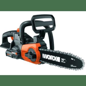 "Worx 20V PowerShare 10"" Cordless Chainsaw Kit for $100"