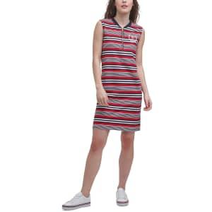 Tommy Hilfiger Women's Striped Zip Sleeveless Dress for $17