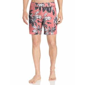"Amazon Brand - Goodthreads Men's 7"" Inseam Swim Boardshort, Pink Large Floral, 29 for $25"