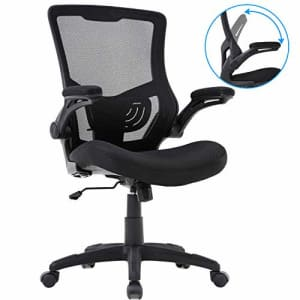 BestOffice Home Office Chair Mesh Desk Chair Computer Chair with Lumbar Support Flip Up Arms Ergonomic Chair for $40