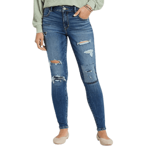 M Jeans by Maurices Women's DenimFlex Patchwork Ripped Jeggings for $13