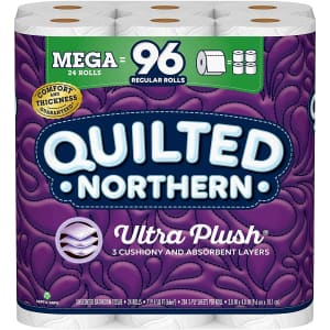 Quilted Northern Ultra PlushToilet Paper 24-Pack for $20