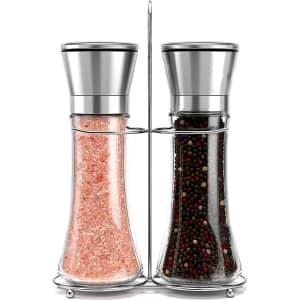 Willow & Everett Stainless Steel Salt & Pepper Grinder Set for $11