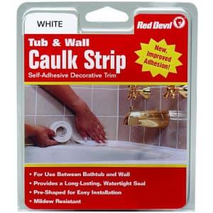 "Red Devil 1-5/8"" x 11-Foot Tub & Wall Caulk Strip for $9"