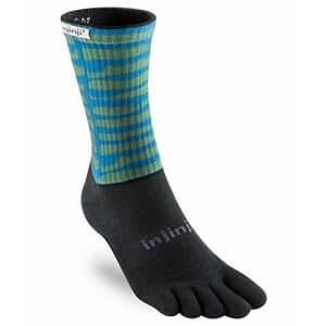 Injinji Trail Midweight Crew Socks (Small, Gritty) for $35