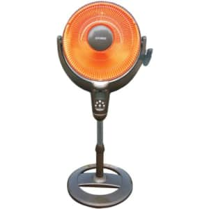 Optimus H-4501 14-Inch Oscillitating Pedestal Digital Dish Heater with Remote for $89