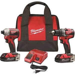 Milwaukee Tools M18 18V Drill/Impact Combo Kit w/ Battery for $228