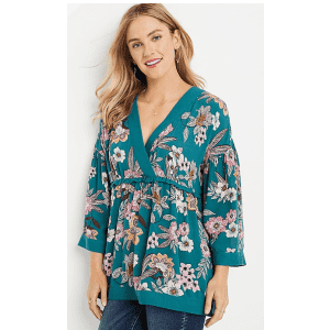 Maurices Women's Floral Bell Sleeve Blouse for $10