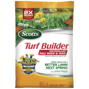 Scotts Turf Builder Winterguard Fall Weed & Feed3 14.29-lb. Bag for $23