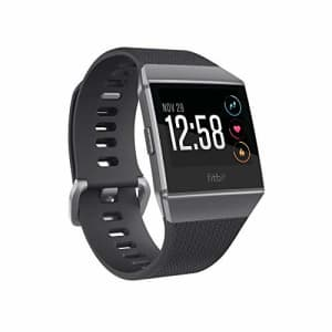 Fitbit Ionic Smartwatch, Charcoal/Smoke Gray, One Size (S & L Bands Included) (Renewed) for $169