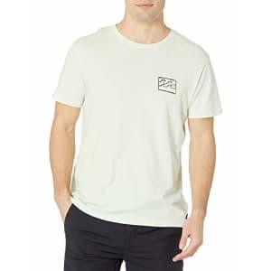 Billabong Men's Short Sleeve Premium Logo Graphic Tee T-Shirt, Seaglass Crayon Wave, SM for $30