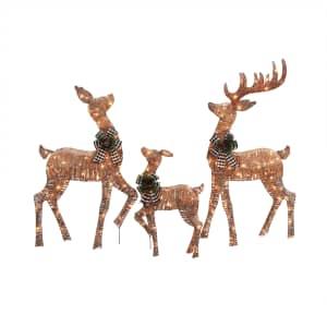 Holiday Time Light-Up Deer 3-Piece Set for $69
