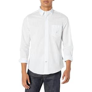 Nautica Men's Slim-Fit Navtech Moisture-Wicking Check Shirt for $15