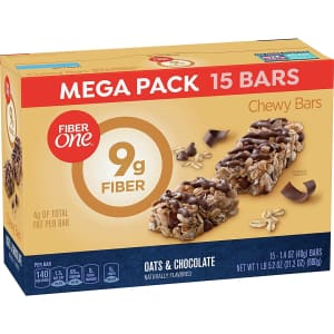 Fiber One Oats and Chocolate Bar 15-Count Box for $7