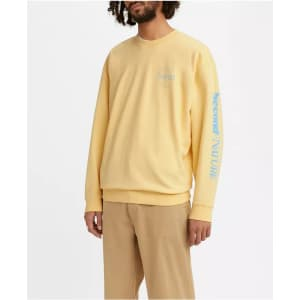 Levi's Men's Oversized Crewneck Sweatshirt for $17