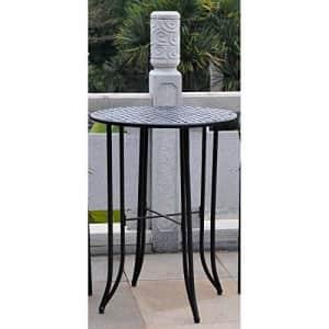 International Caravan Iron Bar-Height Patio Table in Rustic Brown for $203