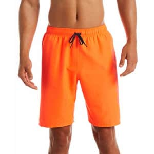 Nike Swim Men's Logo Volley Short Swim Trunk, Total Orange rift, Medium for $50