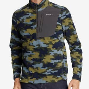 Eddie Bauer Men's First Ascent Cloud Layer Pro 1/4-Zip Pullover for $33