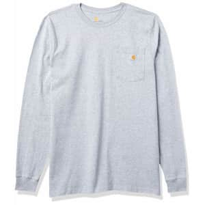 Carhartt Men's Big & Tall Relaxed Fit Heavyweight Long-Sleeve Hardhat Graphic T-Shirt, Heather for $24
