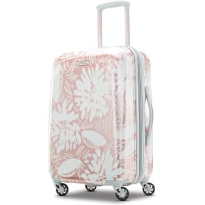"""American Tourister Moonlight 21"""" Hardside Expandable Luggage with Spinner Wheels for $50"""