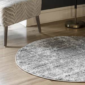 nuLOOM Misty Shades Deedra Area Rug, 8' Round, Grey for $165