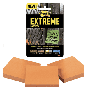 """Post-it Extreme Notes 3"""" x 3"""" Pad 3-Pack for $3"""