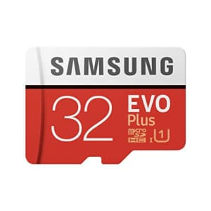 Samsung EVO Plus 32GB 95MB/s Micro SDHC Memory Card with Adapter up to (MB-MC32GA) for $9